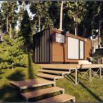 Мини-дом из контейнера Smart House. Вариант временного жилья или дачи.